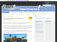 Zappos Blogs screenshot